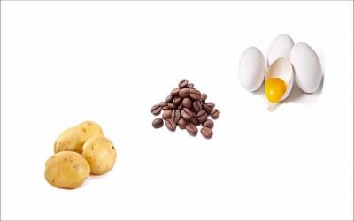 Kentang, Telur, dan Biji Kopi